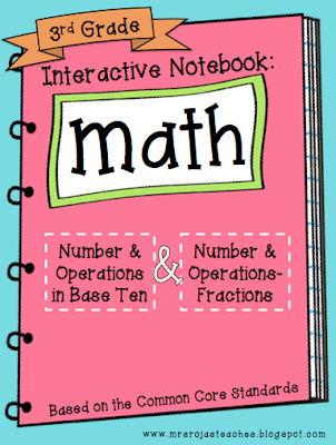 3rd Grade Interactive Math Notebook – 1st Edition