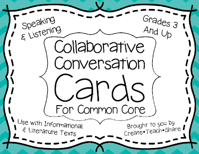 Collaborative Conversation Cards for Common Core