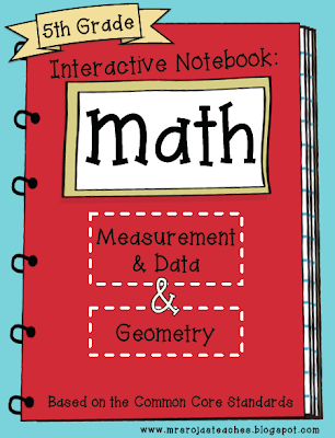 5th Grade Interactive Math Notebooks for Measurement & Data and Geometry