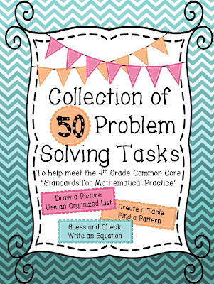 """Problem Solving Tasks {to meet the Common Core """"Standards for Mathematical Practice""""}"""