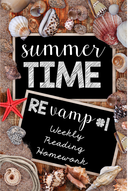 Summertime Revamp #1: Weekly Reading Homework {freebie}